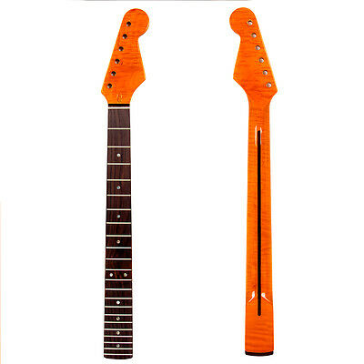Electric Guitar Neck for ST Style Parts Replacement Flame Maple 22 Fret Gloss