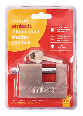 70mm Steel Shutter Padlock Heavy Duty High Security Garage Shed Container New
