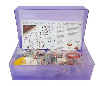 Jewellery Making Kit For Beginners - Instructions Included - Findings + Beads KA