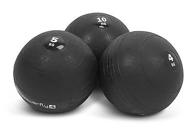 Powerfly No-Bounce Medicine Slam Ball - Gym Training Workout Fitness - 4 5 10 KG