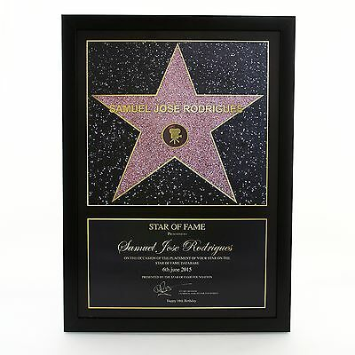 Personalised Hollywood Star of Fame Photo - Wall Art Star of Fame Foundation