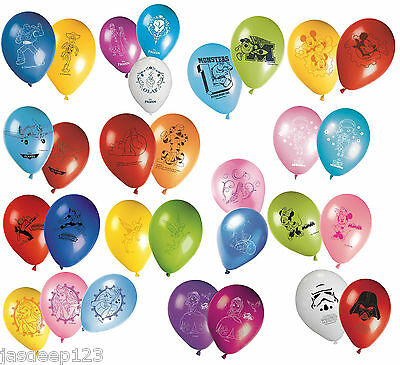 Disney Character Latex Party Balloons Kids Birthday Decorations Supplies 8pk Fun