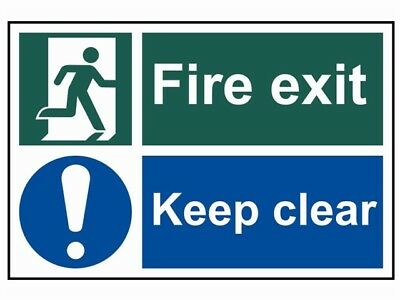 Scan Fire Exit Keep Clear - Pvc 300 X 200Mm Sign