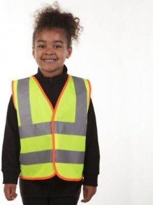 Blackrock Hi-Vis Childrens Safety Waistcoat Vest Jacket Viz Yellow | 7-9 Years