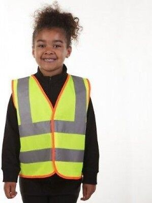 Blackrock Hi-Vis Childrens Safety Waistcoat Vest Jacket Viz Yellow | 10-12 Years