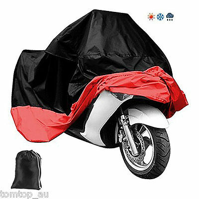 Waterproof Breathable Motorcycle Scooter Rain Street Bike Cover UV Protective XL