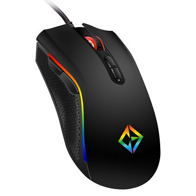 Razor Rainbow RGB LED Gaming Mouse USB Wired Programmable 7 Button Mice Gamer