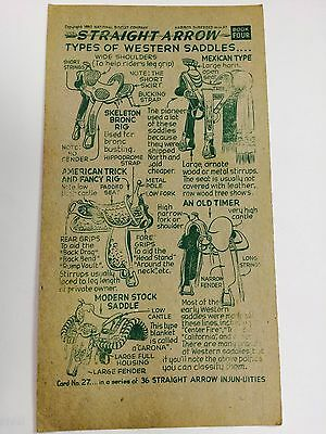 1952 Nabisco Straight Arrow Injun-Uties Card, Book 4, Card 27, of 36 series