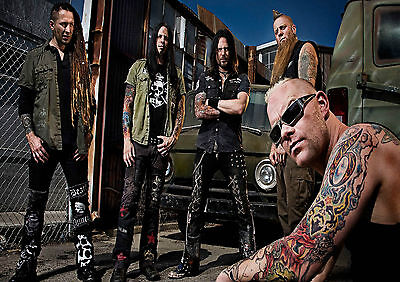 Five Finger Death Punch 2 Photo Rock Band Print Heavy Metal Picture Music Poster