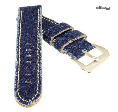 Diloy Jeans Uhrenarmband Modell Richmond dunkelblau 22 mm Fashion-Strap