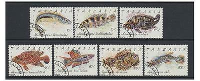 Tanzania - 1992 Fishes set - F/U - SG 1136/42