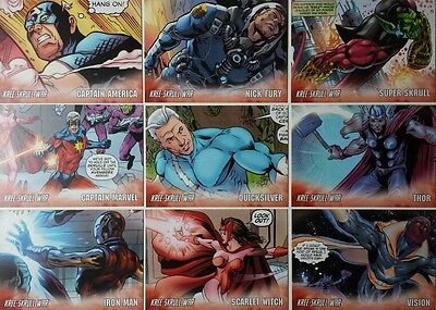 "MARVEL AVENGERS KREE - SKRULL WAR "" Character "" set of 9 UPPERDECK"
