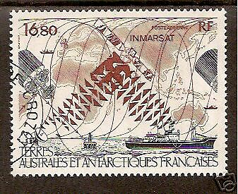 TAAF FRENCH ANTARCTIC 1987 TELECOMMUNICATIONS Space Ship Satellite1v FINE USED