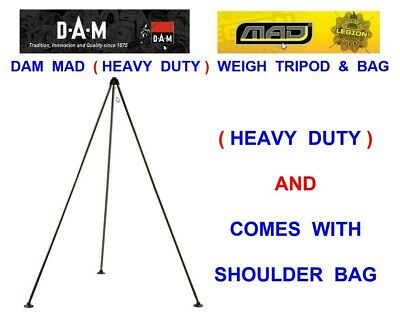 Heavy Duty Weighing Tripod+Bag For Carp Fishing Weigh Sling Scales Unhooking Mat