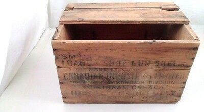 VTG Canadian Ind Canuck Small Arms 12 Gauge Shotgun Shell Cartridge Box Crate