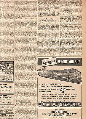 Miniature Train Co Rensselaer Indiana 1950 Ad- you'll see why