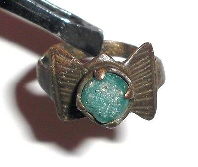 Medieval Bronze Ring with Stone. Jewelry, Artifact • CAD $70.17