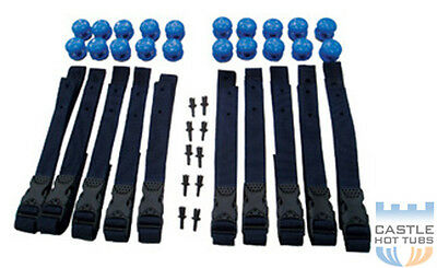 3m Solar Cover and Heat Retention Strap Set Swimming Pool Roller Attachment Kit