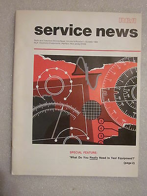 1969 RCA Service News Radio and Television booklet