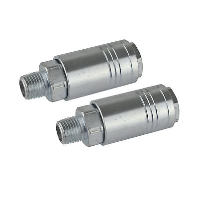 Air Line Hose Connector Fitting Female Quick Release 1/4 inch One Touch 2pk FT