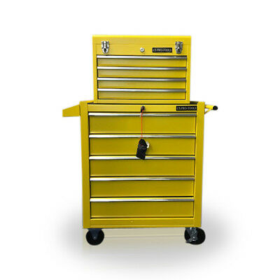 458 US PRO TOOLS Yellow 9 drawer tool box