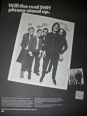 STIFFS LIVE 1978 Promo Ad DURY Costello LOWE others