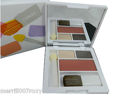 Clinique Very Latest Design Double Eye Shadow Neutral / Fig Blusher Compact