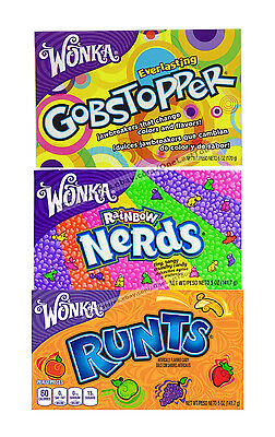 *WONKA 5 oz Candy THEATER BOX Flavored Hard CANDIES Exp. 2017+ *YOU CHOOSE*