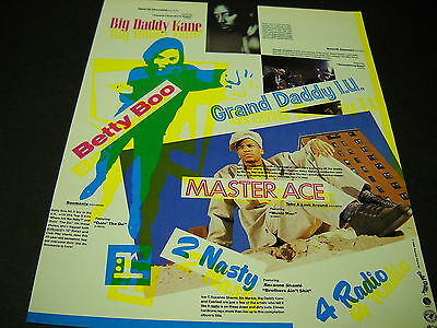 BIG DADDY KANE Grand Daddy I.U. BETTY BOO and MASTER ACE 1990 Promo Poster Ad