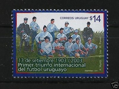 Soccer football First national team victory in 1903 URUGUAY Sc#2020 MNH STAMP
