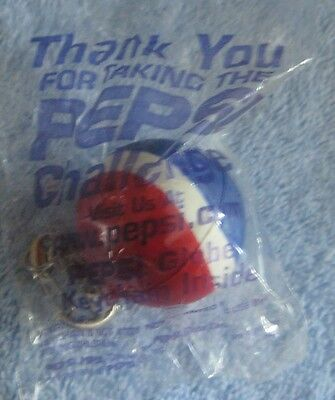 PEPSI COLA  Rubber Ball Key Chain THANK YOU FOR TAKING  THE PEPSI CHALLENGE  New