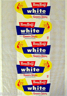 Vintage bread wrapper HOME KRAFT WHITE woman pictured Kenmore New York unused