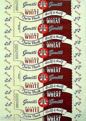 Vintage bread wrapper GENESTS WHITE and WHEAT Manchester New Hampshire unused