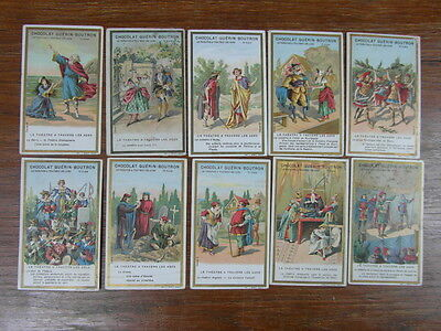 (PC) 10 x CHROMOS GUERIN BOUTRON serie LE THEATRE A TRAVERS LES AGES (Lot 1)