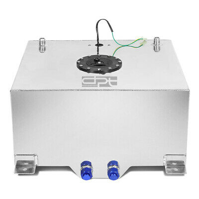 20 Gallon Lightweight Polished Aluminum Race Drift Fuel Cell Tank+Level Sender