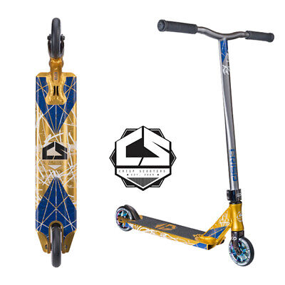 2016 Crisp Inception Complete Scooter Gold Anodized/blue Metallic Free Shipping
