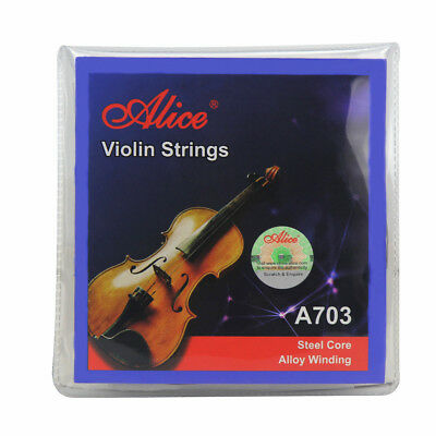 Alice Violin String Set E/A/D/G Strings Ball End for Size 1/4 1/2 3/4 4/4 Violin