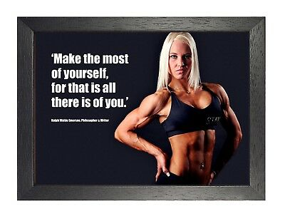 Bodybuilding 2 Make The Most Motivation Gym Fit Poster Sexi Women Photo