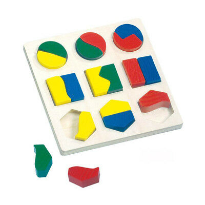 Bino 84029 Geometric Shapes Game 18 pieces new wood! #