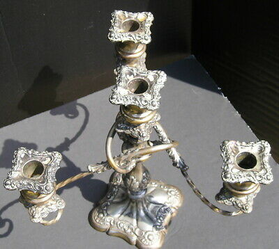 Antique Wilcox Quadruple Silver Plate 4 Light Art Nouveau Candelabra 2786 M Conn