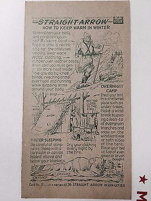 1952 Nabisco Straight Arrow Injun-Uties Card, Book 4, Card 9 of 36 series