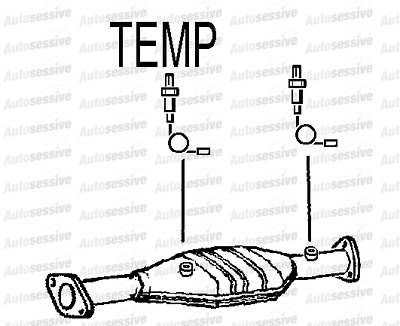 Honda Hrv 1.6 D16W2 2Wd 4Wd Gh13 98-01 Exhaust Catalytic Converter Replacement