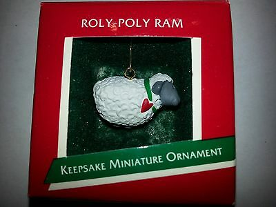 "Hallmark Miniature 1989   ""ROLY POLY RAM""   --Free Shipping--"
