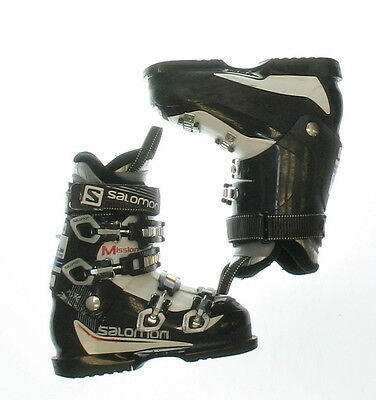 Used Salomon Mission 77 XF Black & White Ski Boots Men's Size