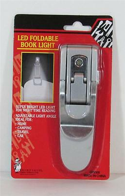 LED Foldable Portable Clip On BOOK Reading LIGHT Lamp NEW