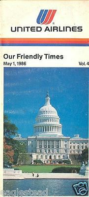 Airline Timetable - United - 01/05/86 - Vol 4 - Washington DC Capitol Cover
