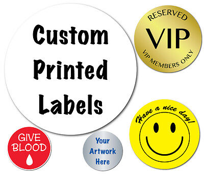 1 Inch Circle Custom Printed Labels, Peel & Stick, 5,000 Stickers on Rolls