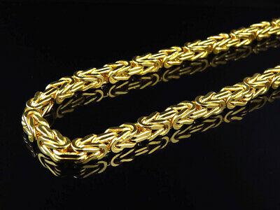 Mens/ Ladies Bonded 1/20th 10K Yellow Gold 6 MM Byzantine Chain Necklace 30-38