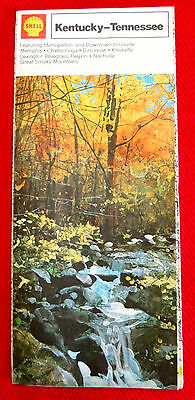 Kentucky Tennessee Shell Road Map 1973 vintage t4c