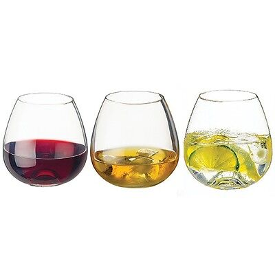 3 Pack Whisky Wine & Water Dartington www. Tumbler Glasses Stemless Wine Glass